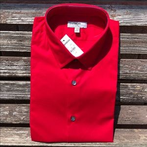 EXPRESS 1MX Fitted Large 16 - 16 1/2. NWT!!